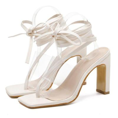 Women High Heels Strappy Heels Sandals Fetish Transparent Sandles Lady Stripper Chunky Shoes