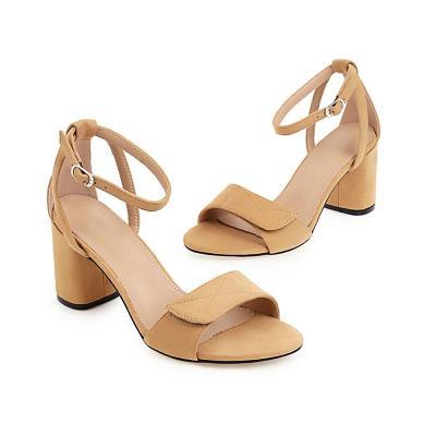 Fashion Heels Sandals Womens Shoes Classic Black Beige Summer Shoes Elegant