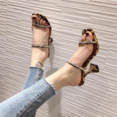 Shoes Heels Leopard Sandals Women Slippers Best Slippers Open Toe High Heels