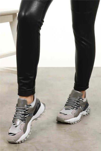 Silver Sport Shoes Women Sneakers Fashion