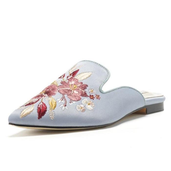 Ponited Toe Summer Slippers Women's Slippers Female Elegant Party