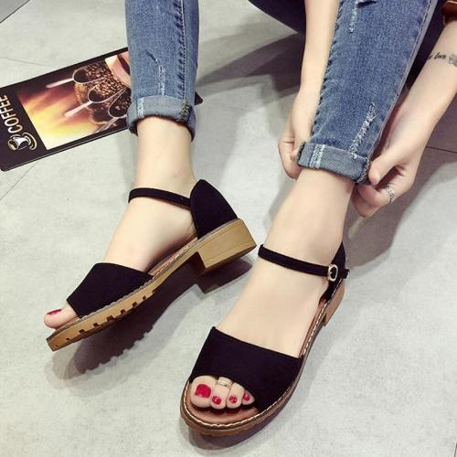 Summer Women Shoes Low Heels Ladies Sandals Peep-toe Fashion Women Sandals Woman Summer Shoes