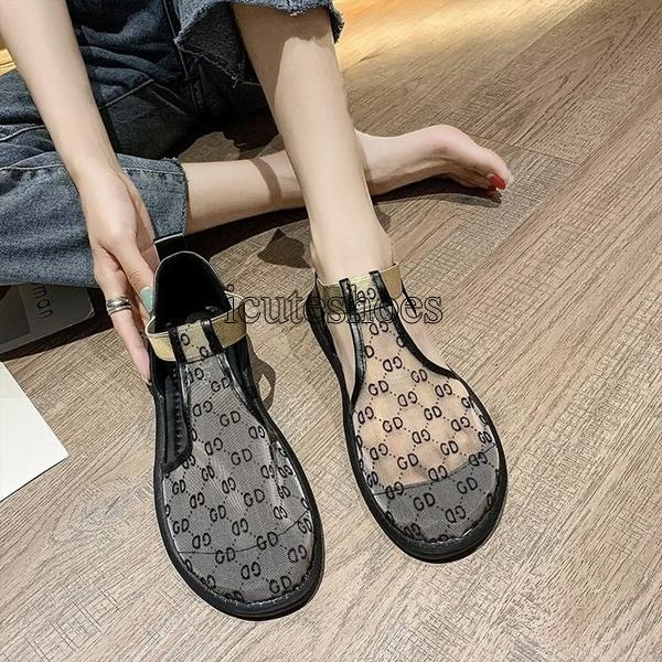 Outdoor Beach Female Women's Slippers PU Leather Sandal Flat Casual Slides