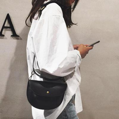 Women Leather Belt Bag Chest Bags Pure Color Shoulder Crossbody Bag
