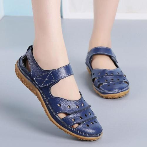 Women Sandals New Spring Summer Flat Hollow Out Ladies Shoes Buckle Non-slip Solid Color Women's Sandals Beach