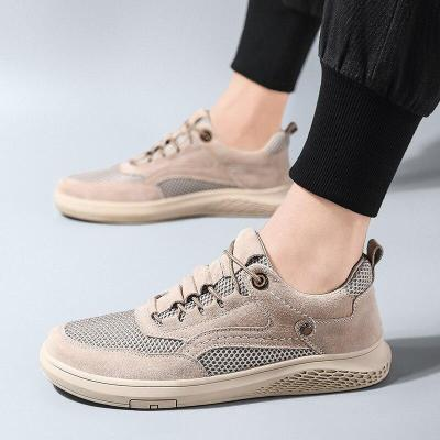 Men Sneakers Fashion Casual Shoes Man's Shoe Suede Leather Leisure Walking Footwear Breathable
