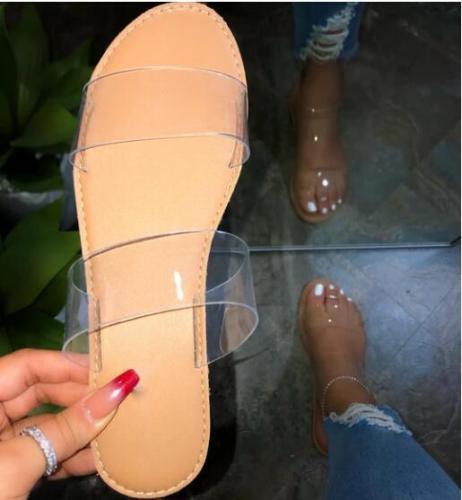 Women Sandals Transparent Slippers