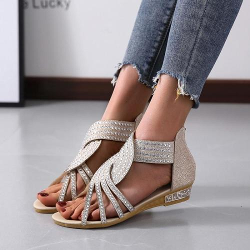 Women Sandals Women's Flats Open Toe Casual Shoes Rome Plus Size Sandals Ladies