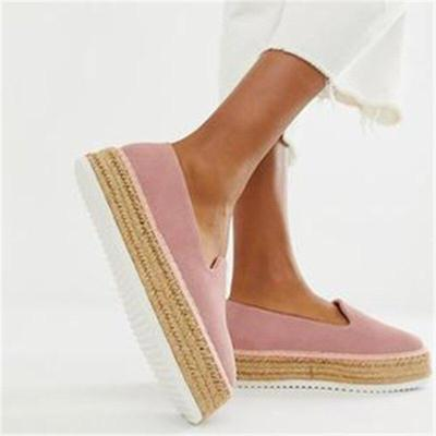 Flat Shoes Woman Faux Suede Shoes Slip-on Casual Loafers Women Platform Flats Ballet Flats Ladies