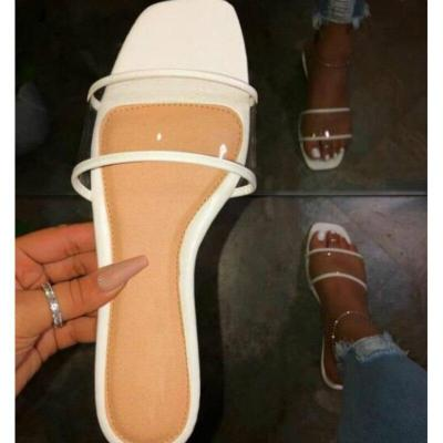 Transparent Fashion Slippers Flat with Women Beach Shoes Ladies Outside Slippers Breathable Woman