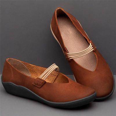 Women Simple Vintage Flat Heel Slip-on Shoes