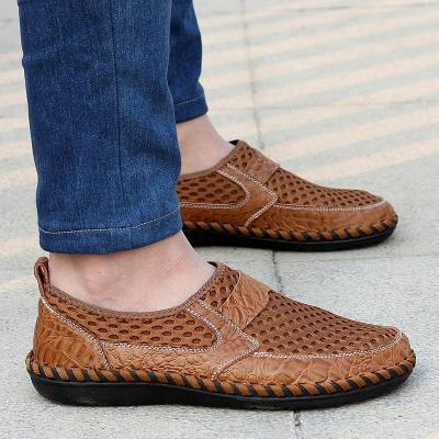 Men Oversize Mesh Flats Casual titching Soft Comfortable Loafers Shoes