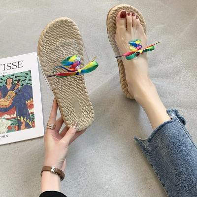 New Transparent Sandals Women's Summer Fashion Wear Beach Shoes Flat