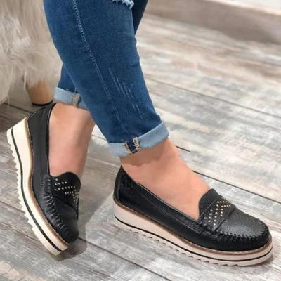 Women Flat Shoes Summer Solid Color Thick Bottom Sandals Fashion Tassel Casual Style