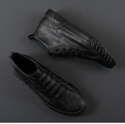 Autumn New Men's Low-Top Casual Shoes Style Breathable All-match Loafer Shoes Youth Trendy Designer Pu Leather Shoe