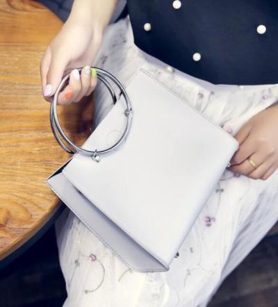Concentric Ring Personality Shoulder Handbag Noble Temperament Bag
