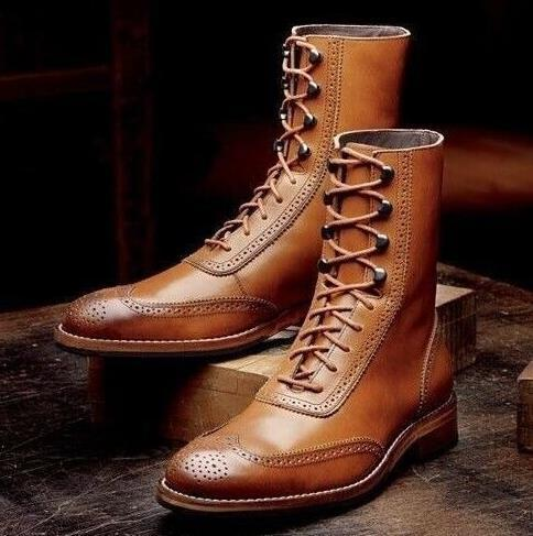 Men PU Leather Fashion Shoes Low Heel Fringe Shoes Dress Shoes Shoes Spring Boots Vintage Classic Male Casual