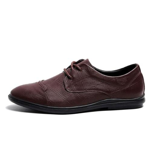 Man Shoes Spring Summer Male Leather Shoes Genuine Leather Casual Clax Men's Derby Footwear Handmade Brand