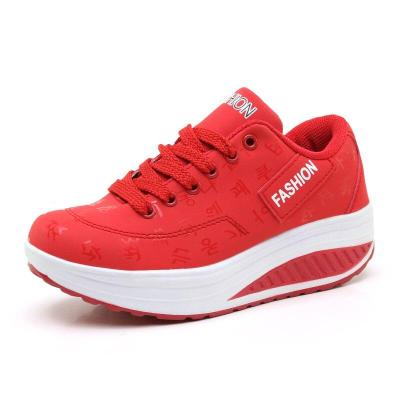 Women Sneakers New Arrival Fashion Pu Leather Waterproof Wedges Platform Women Shoes Tenis Breathable Shoes Woman