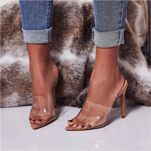 Pointed Peep Toe High shoes heeled Shoes Ladies Party Heels slippers Women Pumps