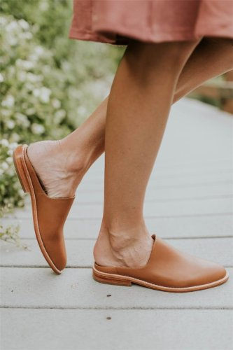 Women's Casual Solid Color Slip on Flats