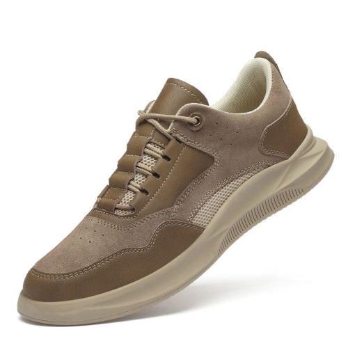 Man Leather Sneakers Summer Autumn Men's Suede Leather Shoe Casual Shoe Khaki Walking Footwear Breathable