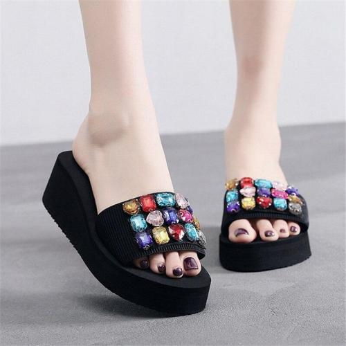 Comfortable Beach Shoes Platform Wedge Women's Slippers Heel Slipper