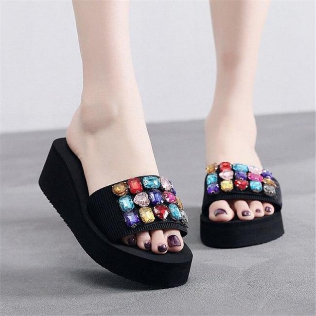 Comfortable Beach Shoes Platform Wedge Women's Slippers Heel Slipper