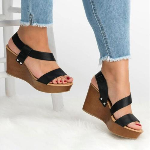 High Heels Platform Sandals Women Peep Toe Strap Gladiator Shoes Woman Thick Bottom Summer Wedge Sandals