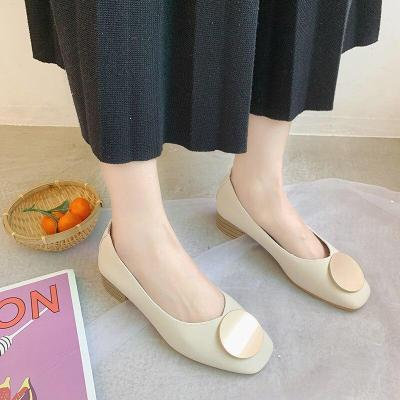 Buckle Women Shoes Woman Flats Soft Bottom Slip on Shallow Square Toe Ladies Flats Female Casual Shoes