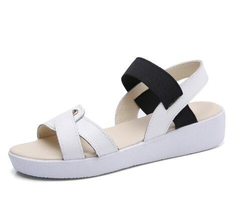 Female Summer Flat Sandals with Thick Bottom Shoes Open Toe Woman Sandals