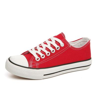 Women Sneakers Red Canvas Shoes Women Breathable Lace-up Casual Shoes