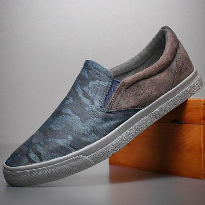Canvas Vulcanized Shoes Men Trendy Casual Loafer Shoe Youth Fashion Lazy Slip-On Sneakers