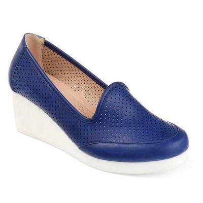 Women's Casual Round Wedge Heel Shoes