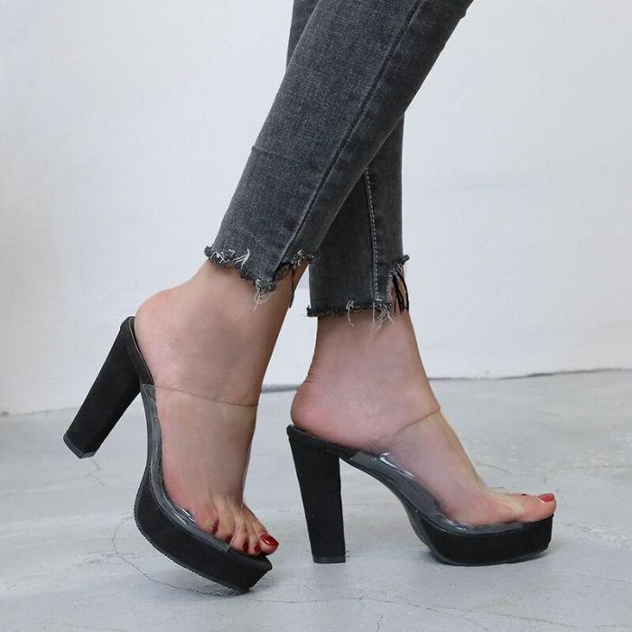 Slippers Women Fashion Platform High Heels Shoes Woman Summer Peep Toe Sandals Plus Size