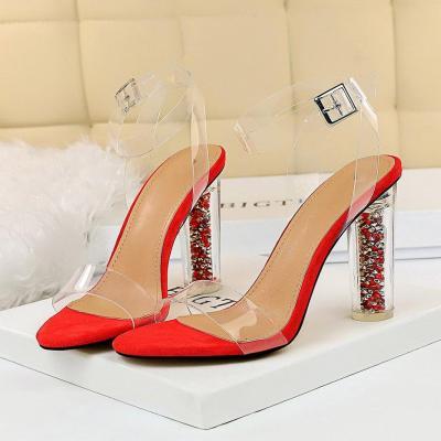 Women High Heels Sandals Transparent Summer Shoes Heels Red Pumps
