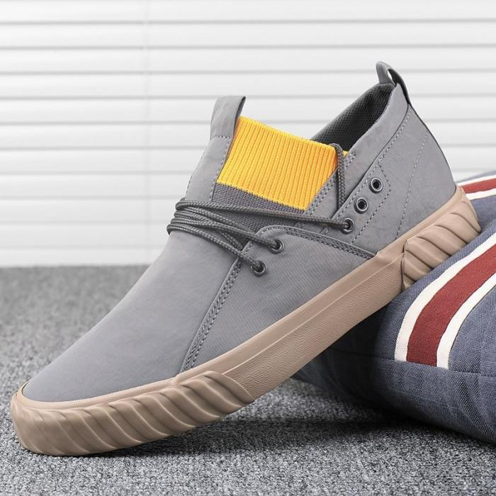 Leisure Shoes Men Breathable Vulcanize Canvas Shoe Trendy British Style Male Wild Simple Sneakers Shoes