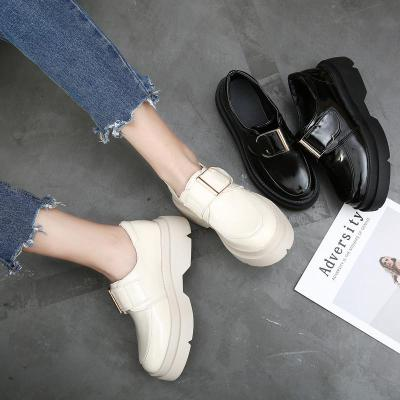 Shoes Women's New Fashion Buckle In Spring Leather Shoes