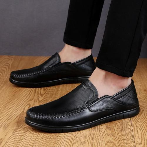 Men Shoes Casual Luxury Brand Summer Mens Loafers Genuine Leather Moccasins Comfy Breathable Slip on