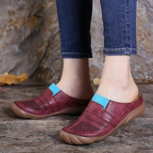 Summer Women Sandals Retro Slippers Beach Shoes Female Open Toe