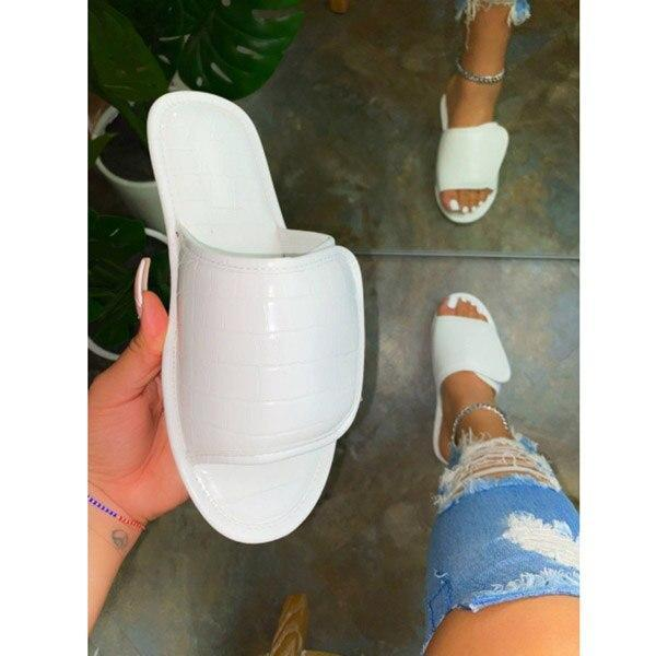 New Beach Shoes Outdoor Open Toe Flat Sandals Platform Casual Slippers Solid Color Fashion