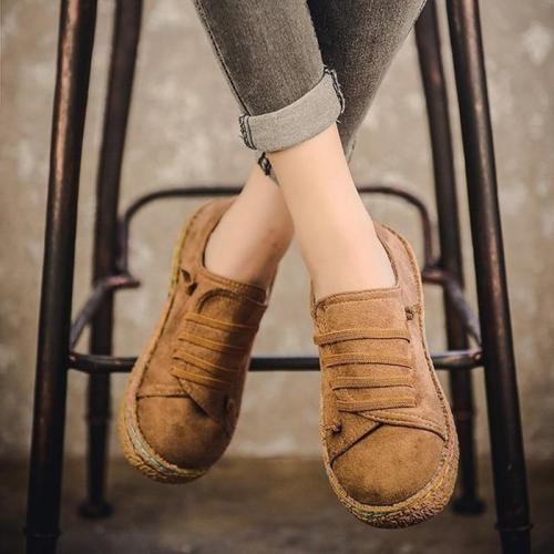 Retro Casual Women Flats Shoes Plus Size Slip On Loafers Women Flat Autumn Summer Sneakers Ladies sapato feminino