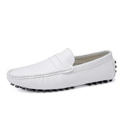 Leather Men Shoes Luxury Brand Formal Casual Mens Loafers Soft Breathable Slip on Boat Shoes Plus Size