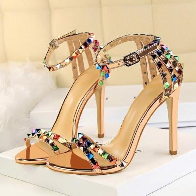 Women High Heels Sandals Lady Sandles Stiletto Gladiator Pumps Summer Platform Shoes