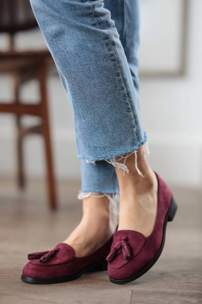 Brown Navy Blue Claret Red Suede Oxford Shoes New Fashion High Top Casual Winter Spring Shoes for Women