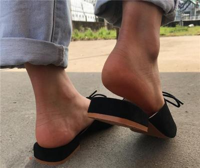 Women's Fashion Lace-Up Flat Heel  Slippers