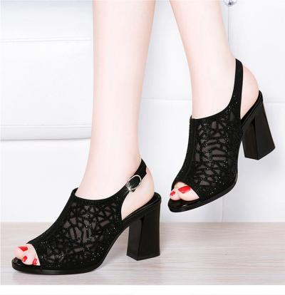 Women's Shoes 2020 Summer New Women's Sandals High-heeled Fashion Chunky Heeled Sandals Hollow