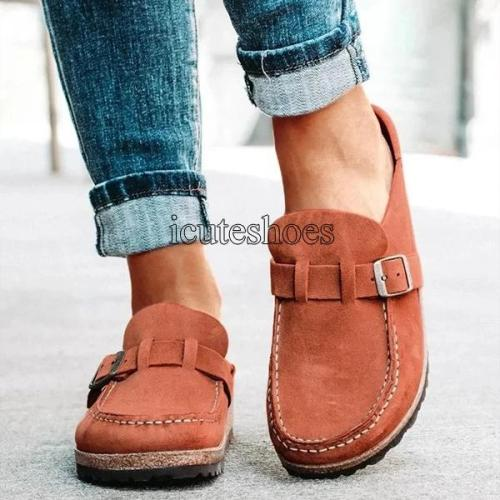 Women Flats Shoes Office Summer Loafers Slip on Flats Comfortable Ladies Shoe