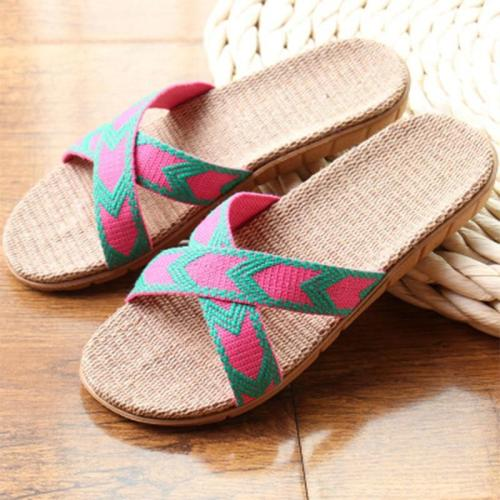 Summer Slippers Women Hemp Slides Female Slip-On Flat Women's Comfortable Shoes Ladies Casual Footwear