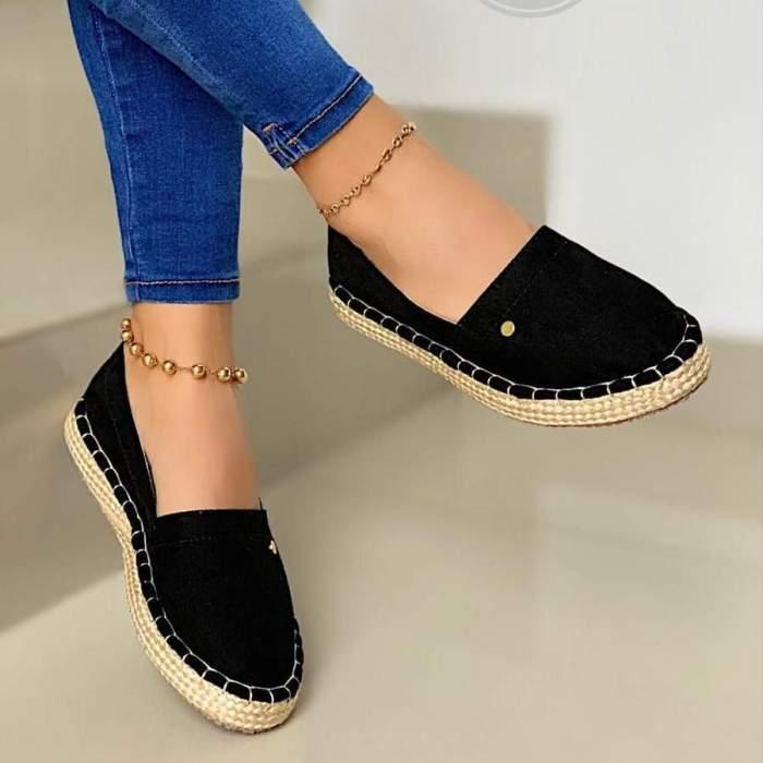 Women's Flats Slip on Leopard Non Slip Casual Fashion Shallow Platform Ladies Footwear